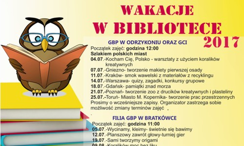 WAKACJE WBIBLIOTECE 2017